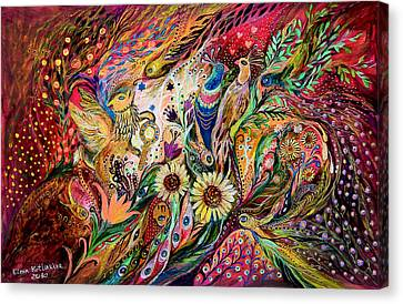 The Gestures Of Love Canvas Print by Elena Kotliarker