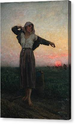 The Gleaners Canvas Print - The Gleaner by Jules Breton