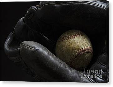 Baseball Glove Canvas Print - The Good Old Days by Bob Christopher