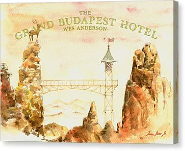 The Grand Budapest Hotel Watercolor Painting Canvas Print