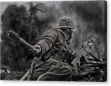 Explosion Canvas Print - The Grenadier by Mark H Roberts