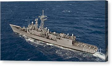 The Guided-missile Frigate Uss Reuben Canvas Print by Stocktrek Images