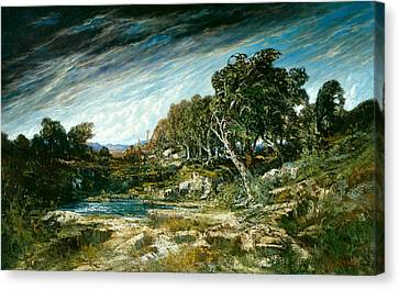 The Gust Of Wind Canvas Print by Gustave Courbet
