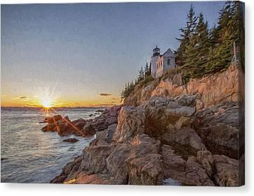 The Harbor Dusk IIi Canvas Print by Jon Glaser