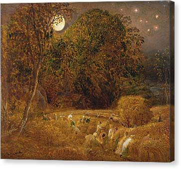 The Harvest Moon Canvas Print by Celestial Images