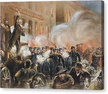 The Haymarket Riot, 1886 Canvas Print by Granger
