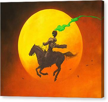 The Headless Horseman Canvas Print by Stacy Drum