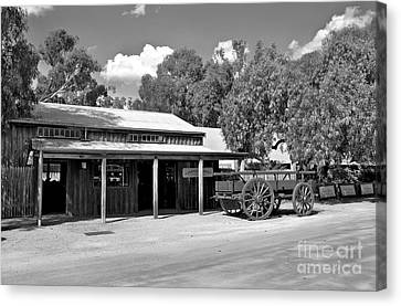 The Heritage Town Of Echuca Victoria Australia Canvas Print by Kaye Menner