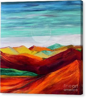 Canvas Print featuring the painting The Hills Are Alive by Kim Nelson