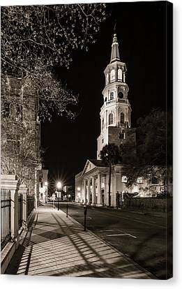 Canvas Print featuring the photograph St. Michael's Episcopal Church by Carl Amoth