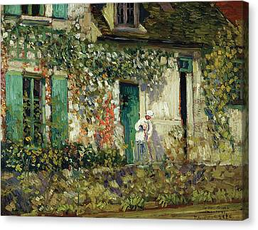 The House In Giverny Canvas Print by Frederick Carl Frieseke