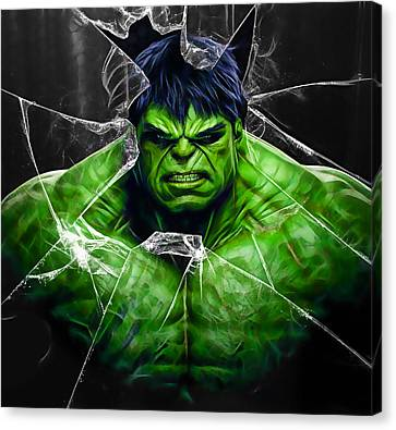 The Incredible Hulk Collection Canvas Print by Marvin Blaine