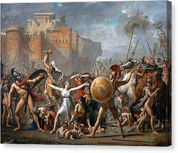 The Intervention Of The Sabine Women Canvas Print by Jacques-Louis David