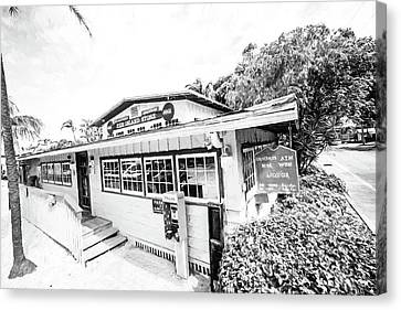 The Island Store Canvas Print by Scott Pellegrin