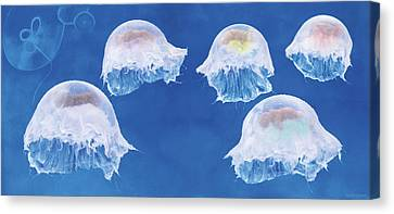 The Jellyfish Nursery Canvas Print by Anne Geddes