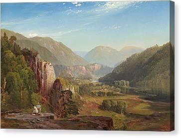 Moran Canvas Print - The Juniata, Evening by Thomas Moran