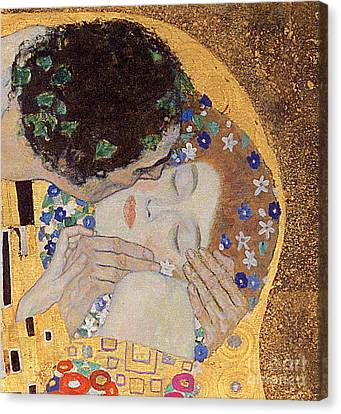 1918 Canvas Print - The Kiss by Gustav Klimt