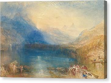 The Lake Of Zug Canvas Print by Joseph Mallord William Turner