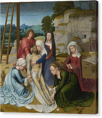 The Lamentation Over The Dead Christ Canvas Print by Gerard David