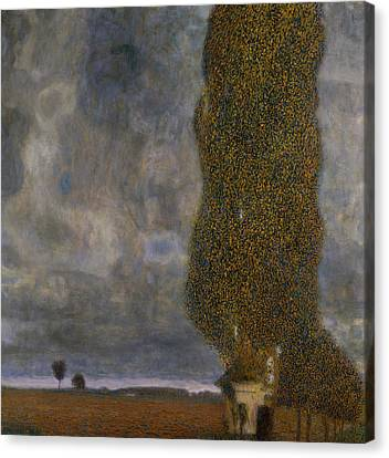 The Large Poplar II Gathering Storm Canvas Print by Gustav Klimt
