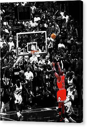 Pippen Canvas Print - The Last Shot 23 by Brian Reaves
