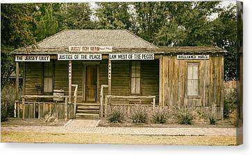 The Law West Of The Pecos Canvas Print