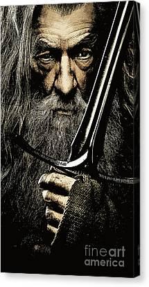 Wizard Canvas Print - The Leader Of Mankind  - Gandalf / Ian Mckellen by Prar Kulasekara