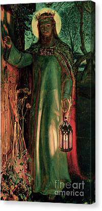 Bible Verse Canvas Print - The Light Of The World by William Holman Hunt