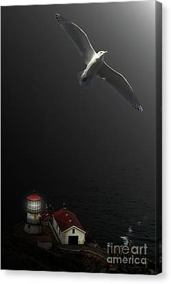 The Lighthouse Canvas Print by Wingsdomain Art and Photography