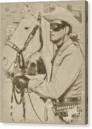 The Lone Ranger Canvas Print by John Springfield