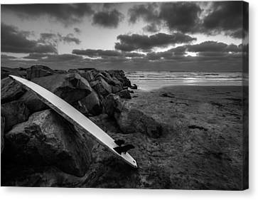 The Long Board Canvas Print by Peter Tellone