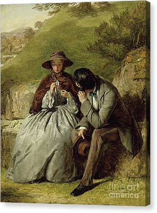 The Lovers Canvas Print by William Powell Frith