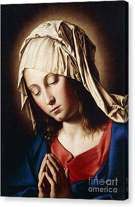 The Madonna In Prayer Canvas Print by Il Sassoferrato