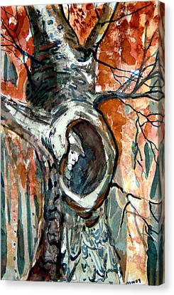 The Man In The Tree Canvas Print by Mindy Newman