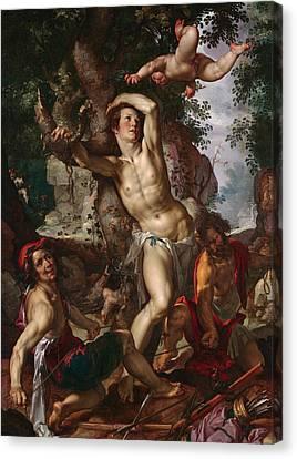 The Martyrdom Of Saint Sebastian Canvas Print
