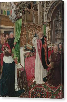 The Mass Of Saint Giles Canvas Print by Master of Saint Giles