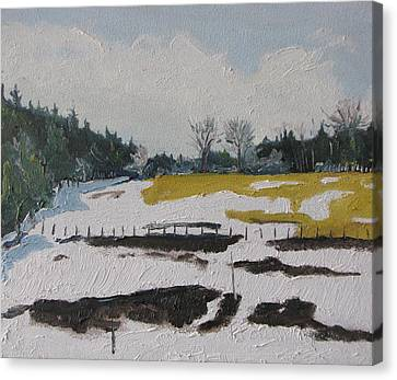 The Melting Snow Canvas Print by Francois Fournier