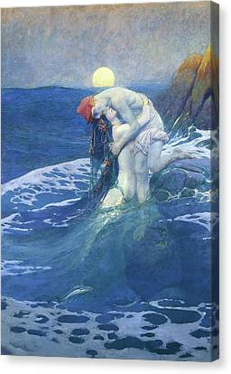 The Mermaid Canvas Print by Howard Pyle