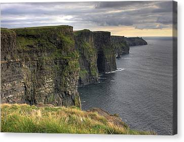 The Mighty Cliffs Of Moher In Ireland Canvas Print by Pierre Leclerc Photography