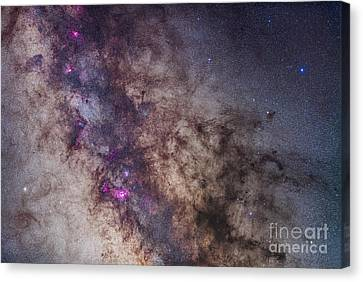 The Milky Way Around The Small Canvas Print by Alan Dyer