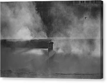 The Misty Morning Canvas Print by Marc Meadows