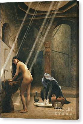 Ottoman Canvas Print - The Moorish Bath by Jean Leon Gerome