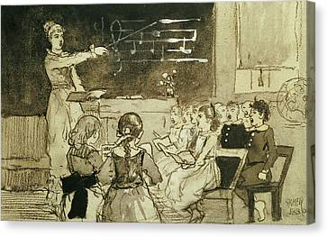 The Music Lesson Canvas Print by Winslow Homer