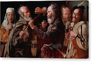 The Musicians' Brawl Canvas Print by Georges de La Tour