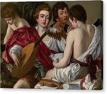 The Musicians Canvas Print by Caravaggio