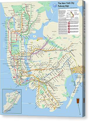 The New York City Pubway Map Canvas Print