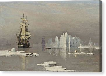 The Northern Whale Fishery Canvas Print by John Ward