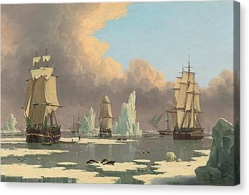 The Northern Whale Fishery - The Swan And Isabella Canvas Print by Mountain Dreams