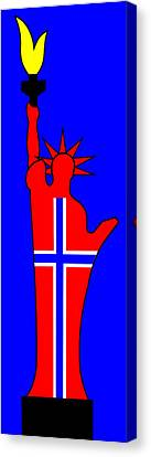 The Norwegian Statue Of Liberty Canvas Print by Asbjorn Lonvig