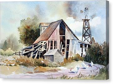 The Old Barn Canvas Print by Bobbi Price